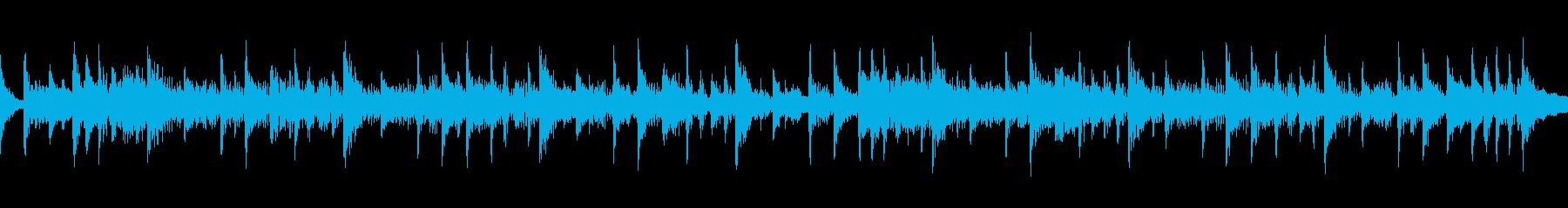 リズミカルなドラムロックの再生済みの波形