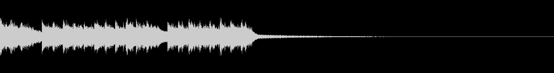キャッチーなダークEDMジングルの未再生の波形