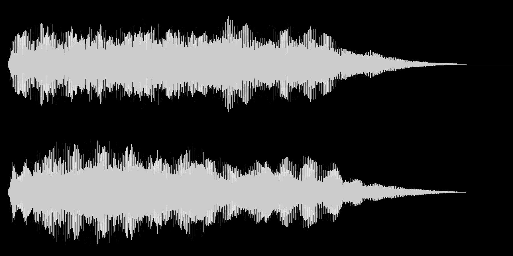 幻想的な宇宙空間の効果音の未再生の波形