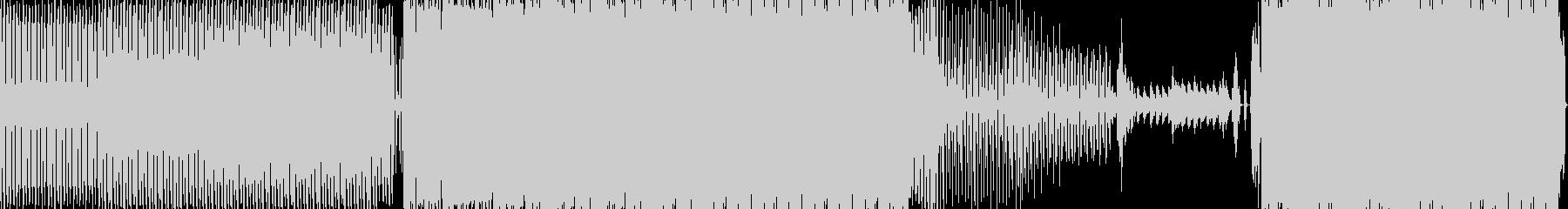 機械的でファンキーなクラブミュージックの未再生の波形