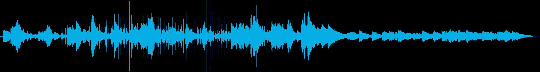 ヨガとマッサージ。ピアノの軽やかな音。の再生済みの波形
