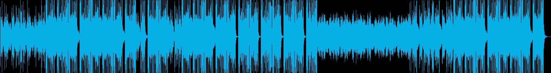 洋楽風ヒップホップトラックの再生済みの波形