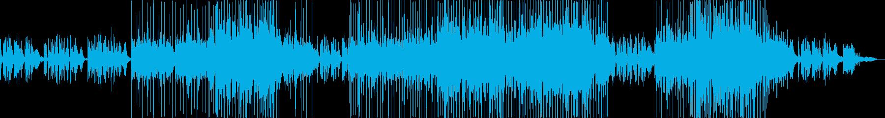 フォーク風の懐かしい雰囲気のバラードの再生済みの波形