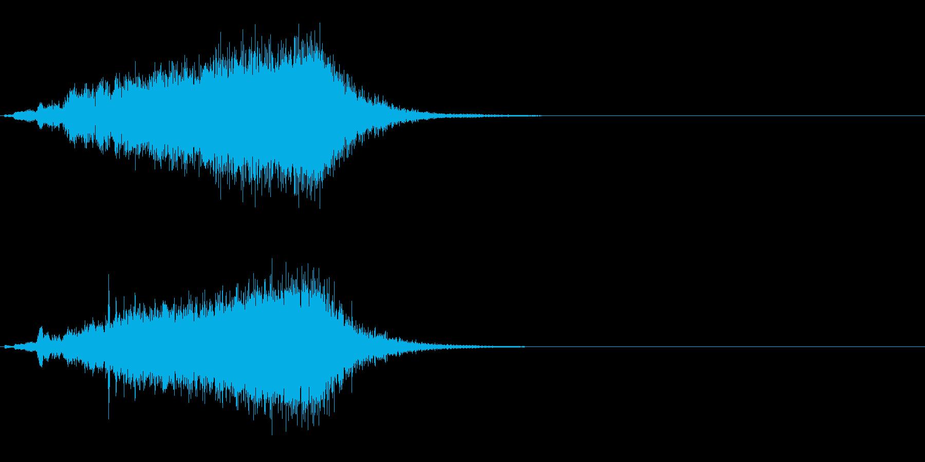 迫りくる恐怖・高まる緊迫感の効果音の再生済みの波形