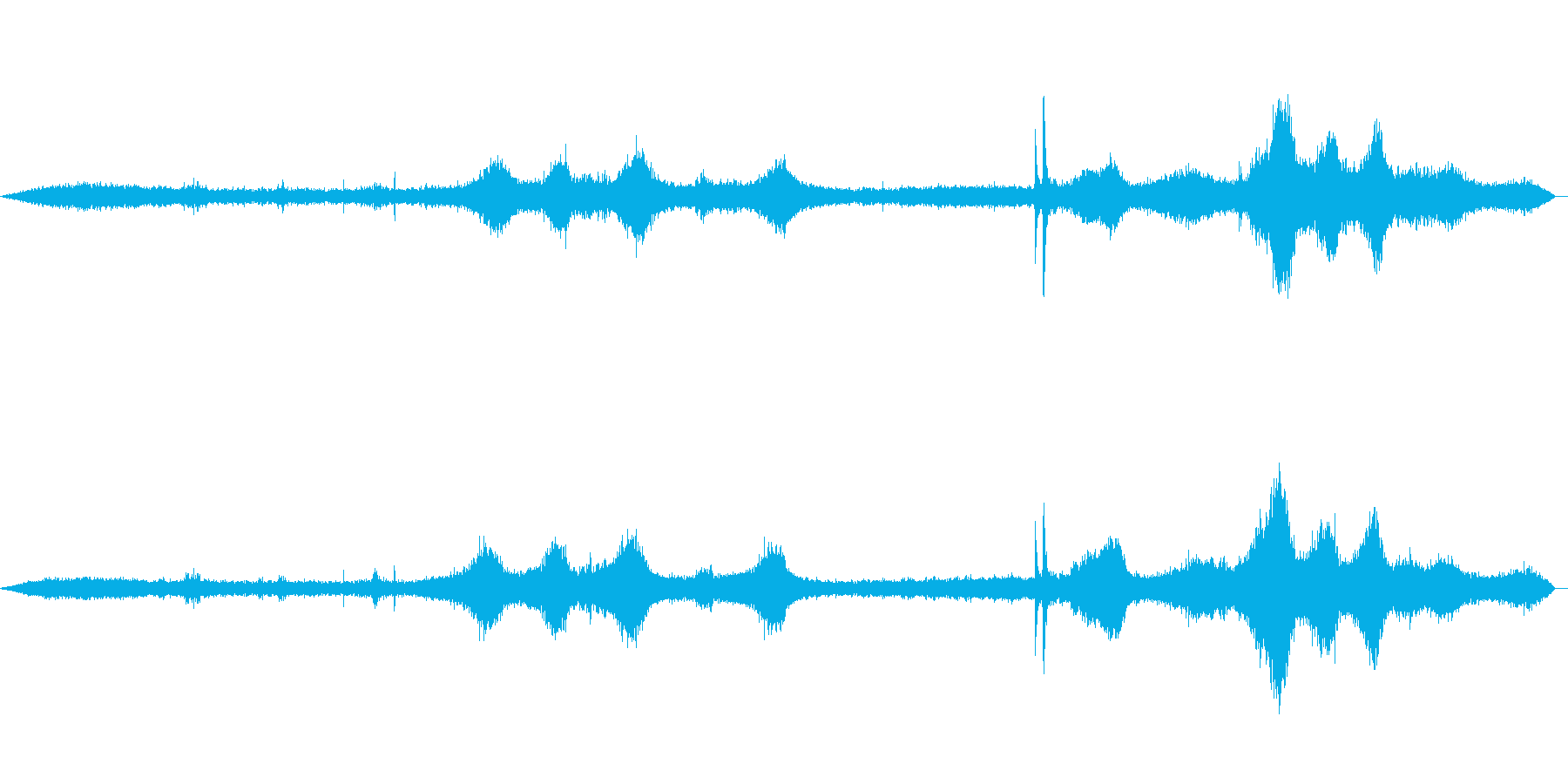 道路の音(環境音)01の再生済みの波形