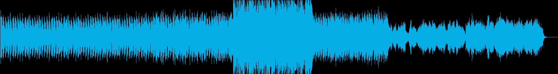 壮大で力強いバラード風オーケストラの再生済みの波形