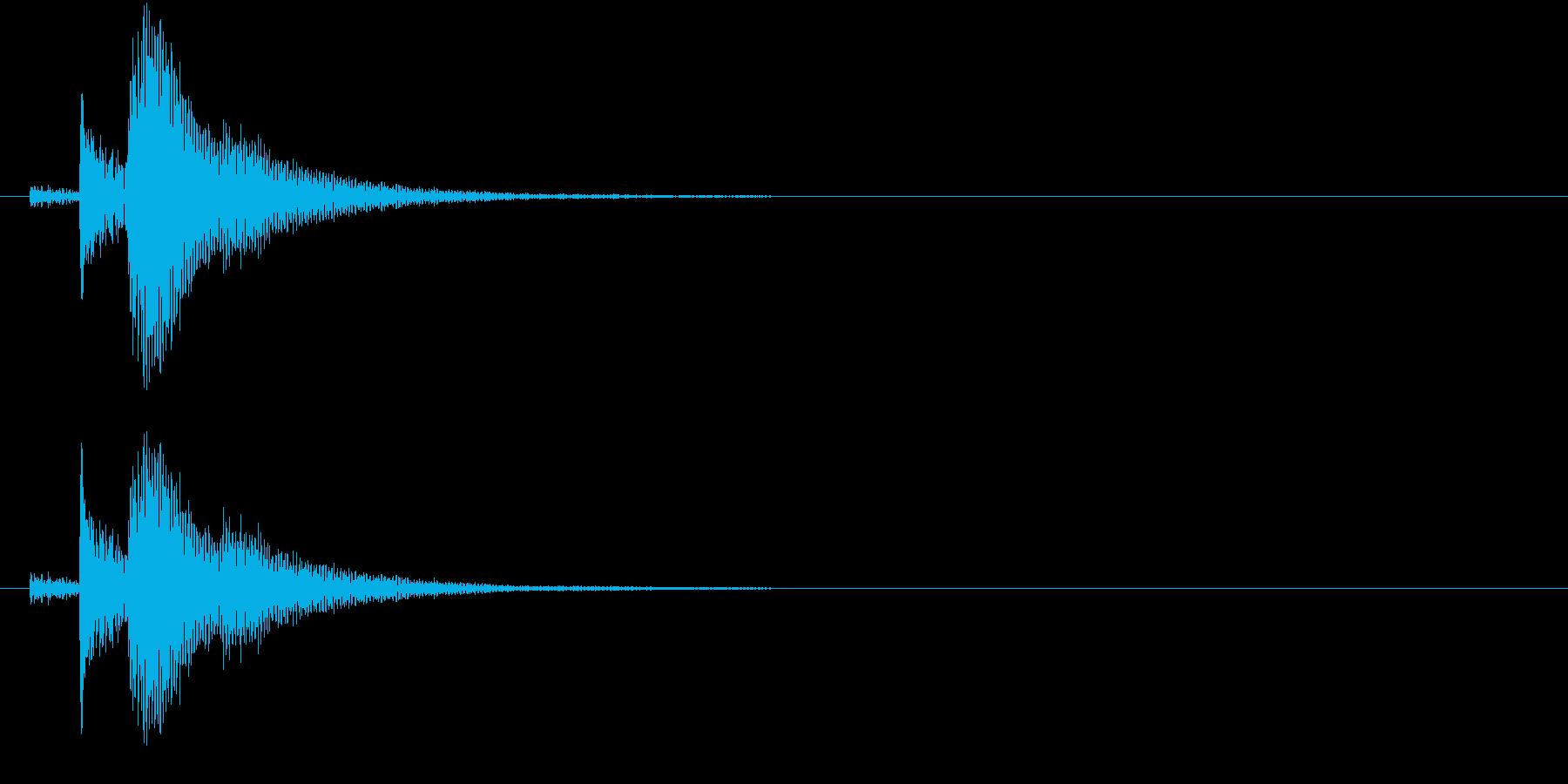 インドの桶太鼓Dhol(ドール)の連打音の再生済みの波形