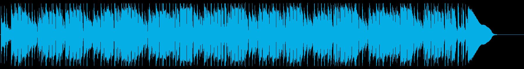ドラムとベースのみ・スウィングジャズ風の再生済みの波形