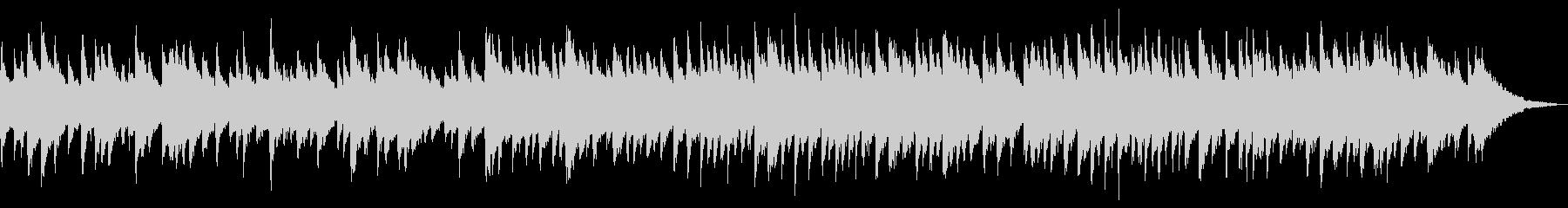 寂し気なバロック風の2声チェンバロの未再生の波形
