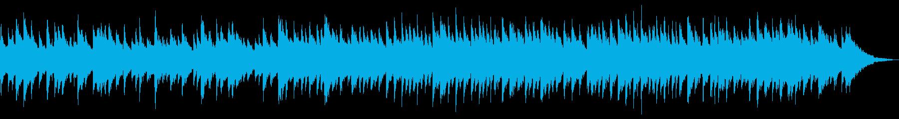 寂し気なバロック風の2声チェンバロの再生済みの波形
