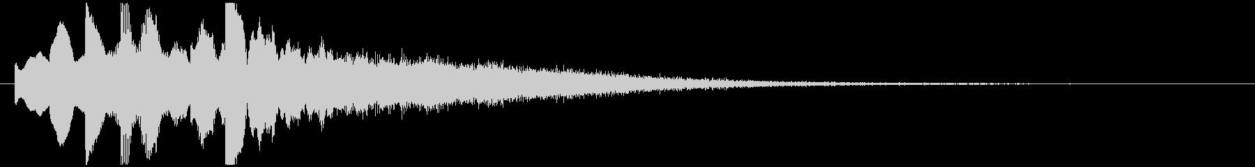 起動音 シンプル クール システムオン4の未再生の波形