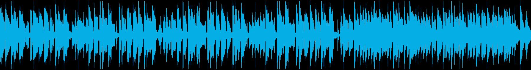 リコーダー、ゆるいコメディ劇伴※ループ版の再生済みの波形