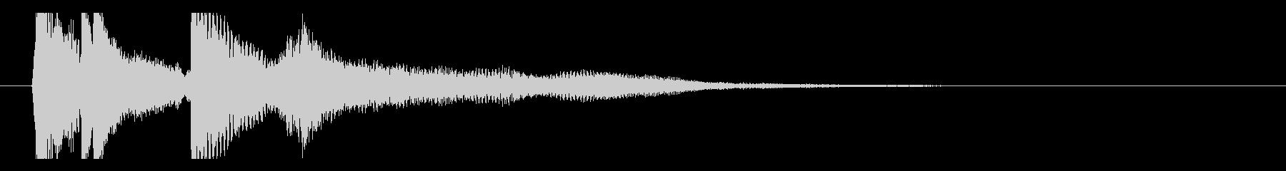 ピアノとストリングスの協奏曲風ジングルの未再生の波形