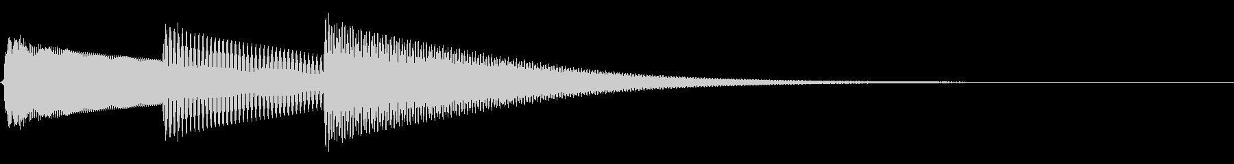 ピロリン。シンプルな着信音 通信音の未再生の波形