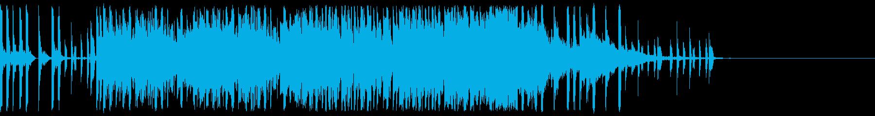 登場場面のジングル(明るい)の再生済みの波形