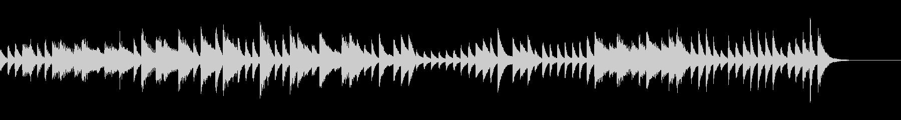 時計の音をイメージしたピアノジングルの未再生の波形
