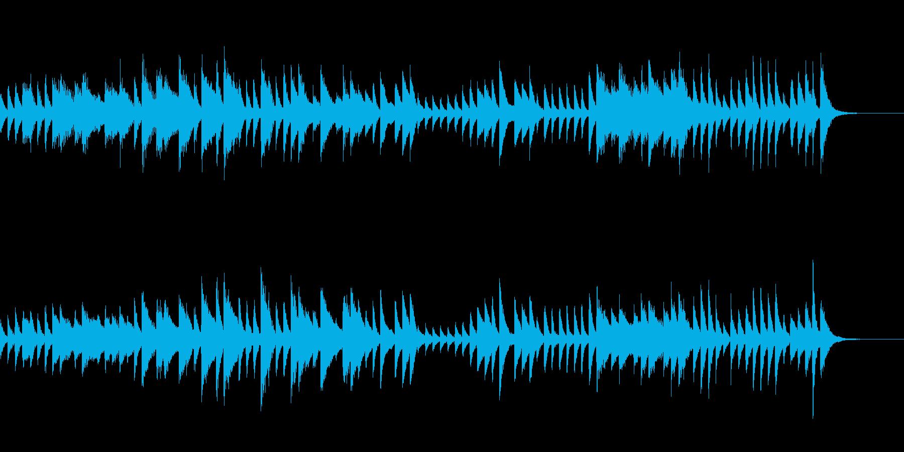 時計の音をイメージしたピアノジングルの再生済みの波形