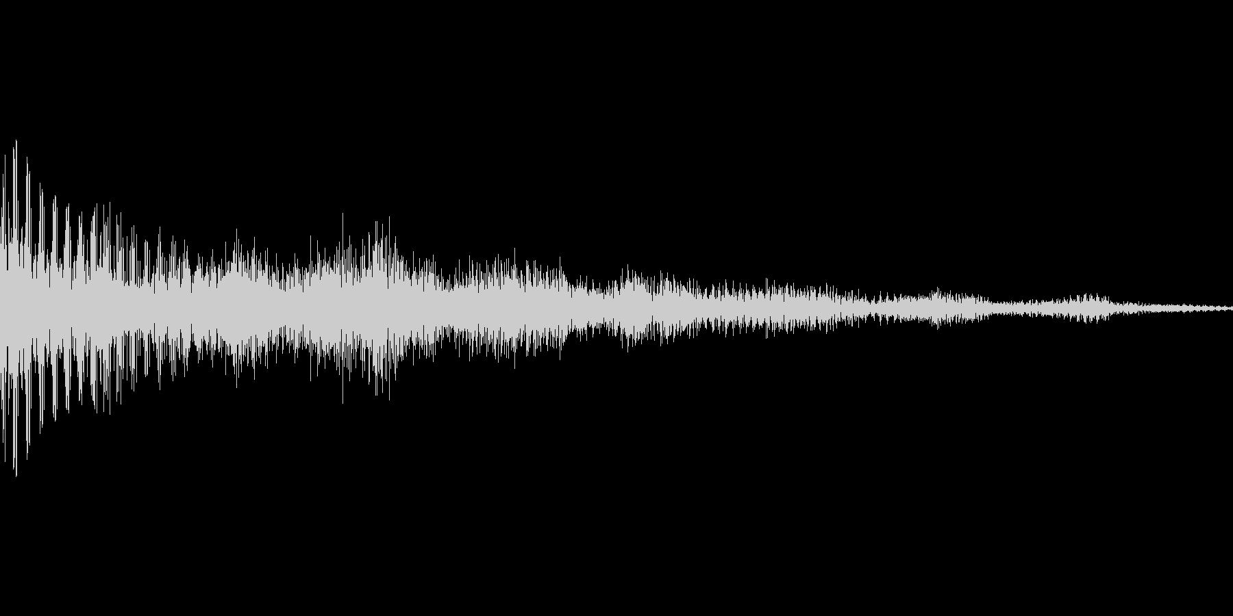 汎用的なワンコードのシステム音ですの未再生の波形