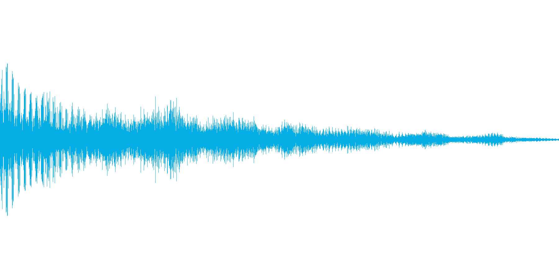 汎用的なワンコードのシステム音ですの再生済みの波形