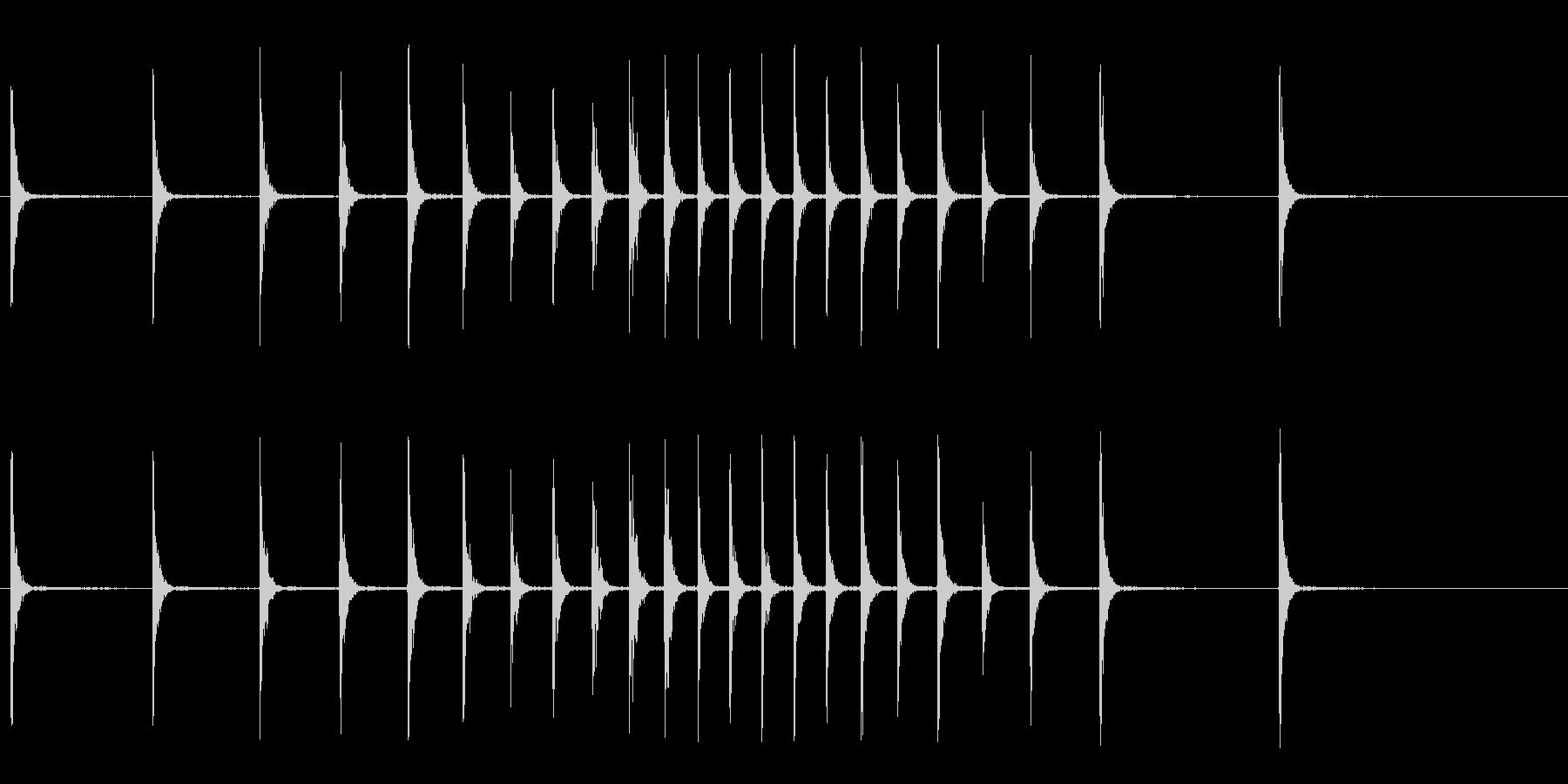カンカンカン…カン!(拍子木、歌舞伎)の未再生の波形