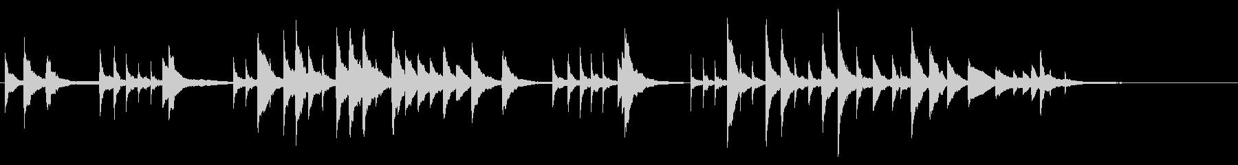幻想的な終わり方のトロイメライ 50秒程の未再生の波形