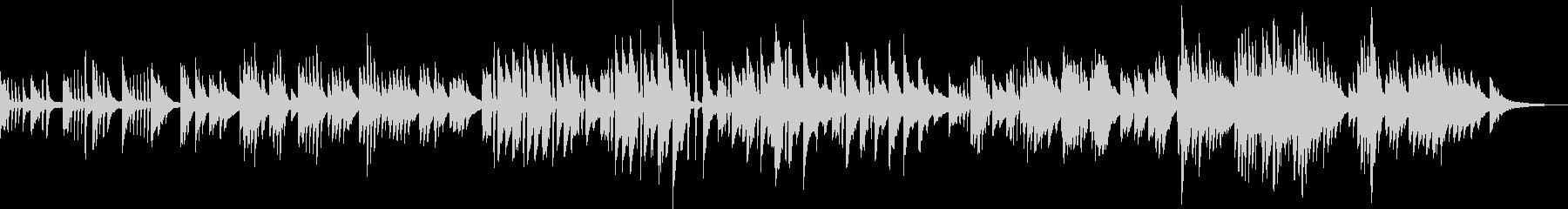 ほっこりかわいいピアノBGMの未再生の波形