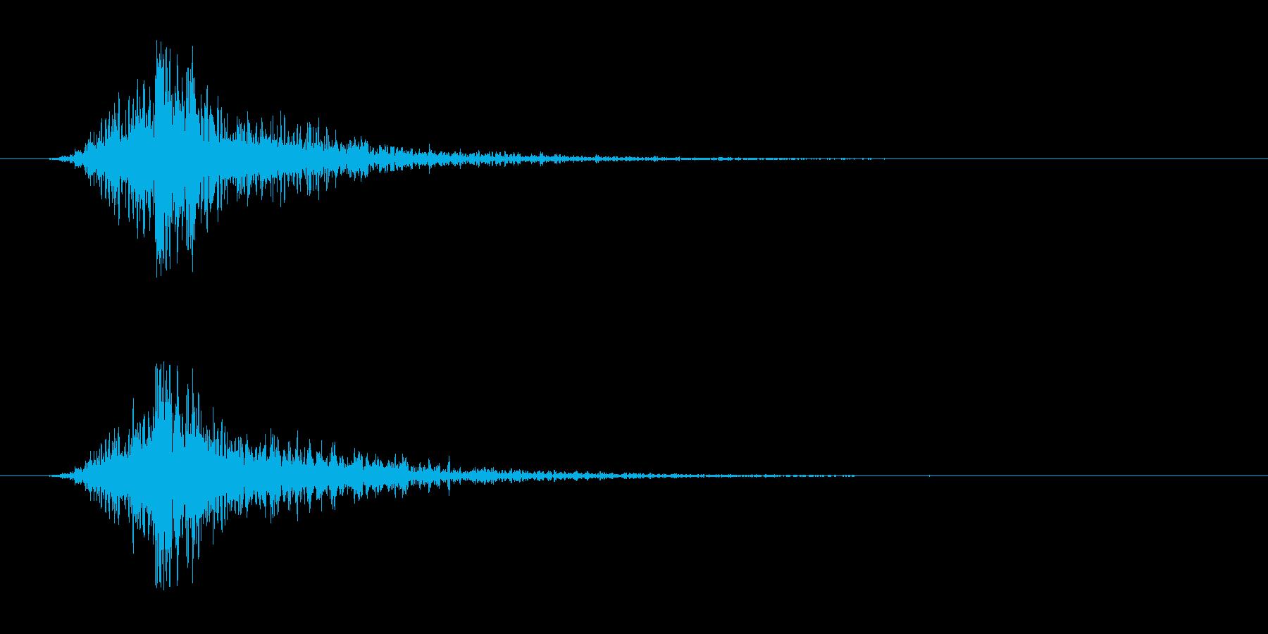 シュードーン-3(インパクト音)の再生済みの波形