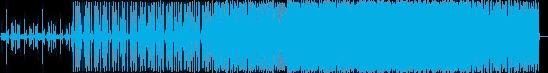 少し不気味な雰囲気のテクノの再生済みの波形