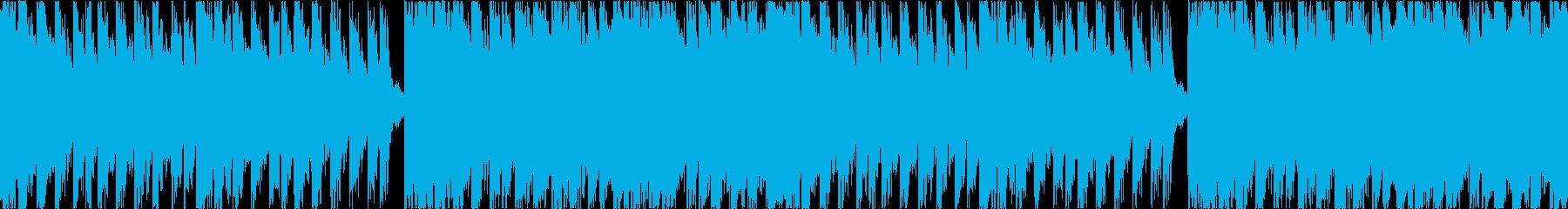 ゼルダ風戦闘曲の再生済みの波形