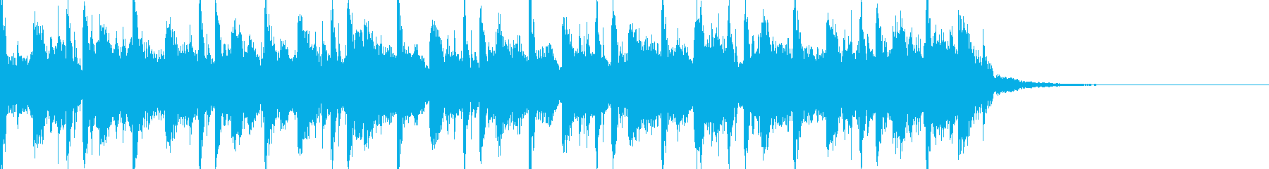 ジングル:緊張感と軽快感のある和風15秒の再生済みの波形