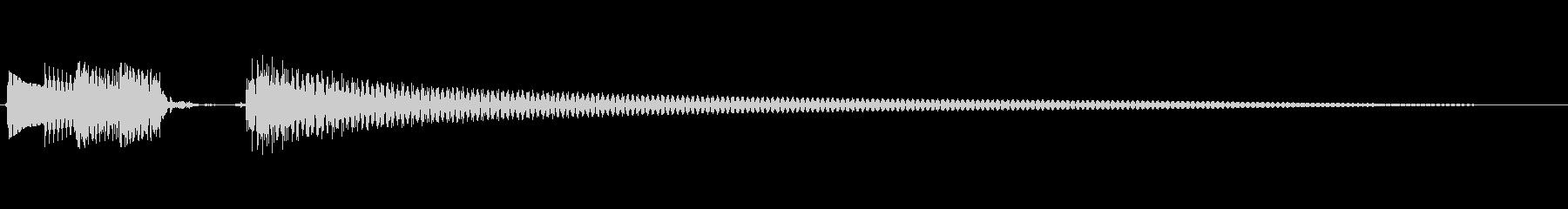 おしゃれなギターアルペジオのジングルの未再生の波形