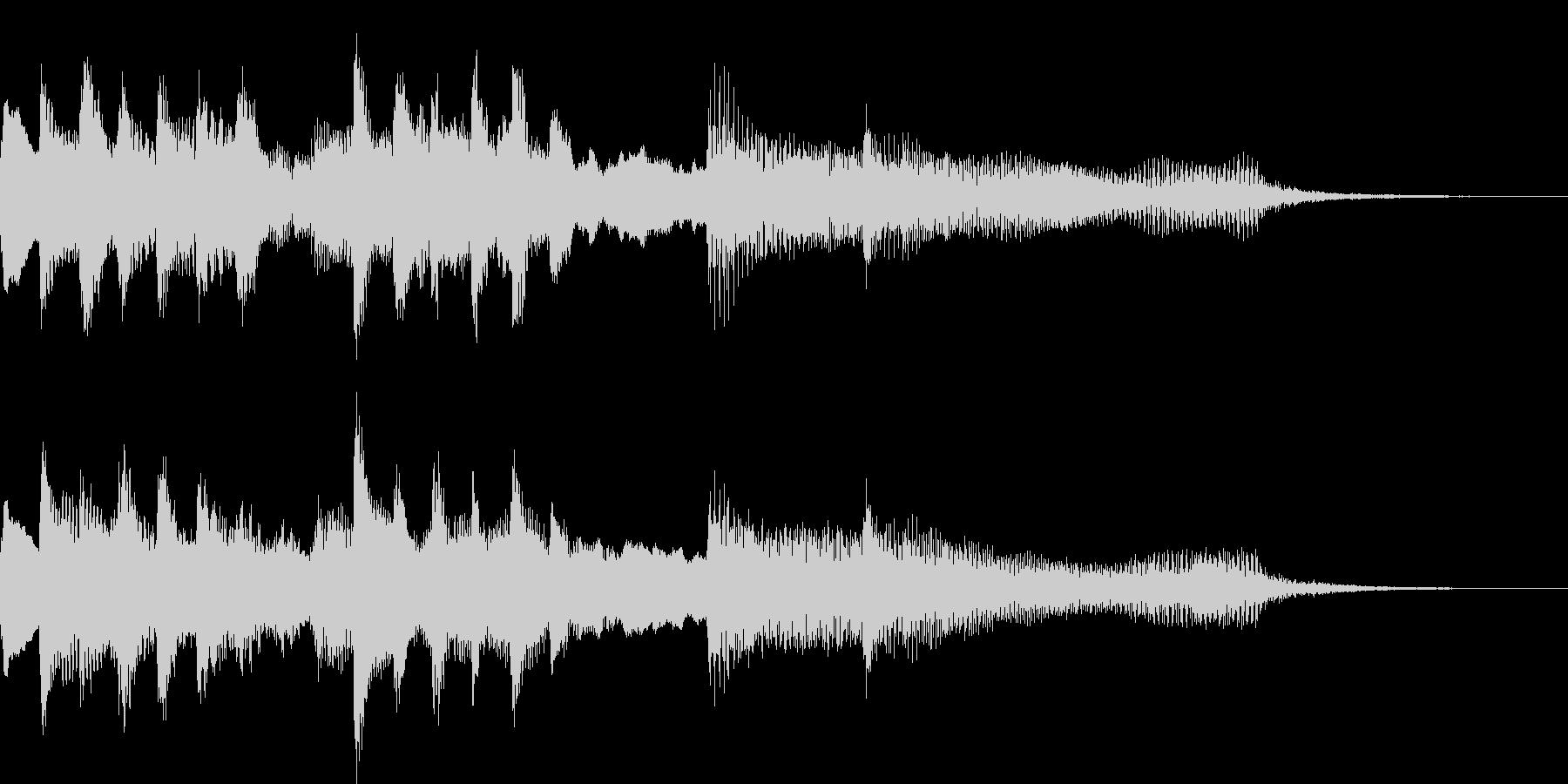 ファンタジーな世界に合わせたロゴ音の未再生の波形