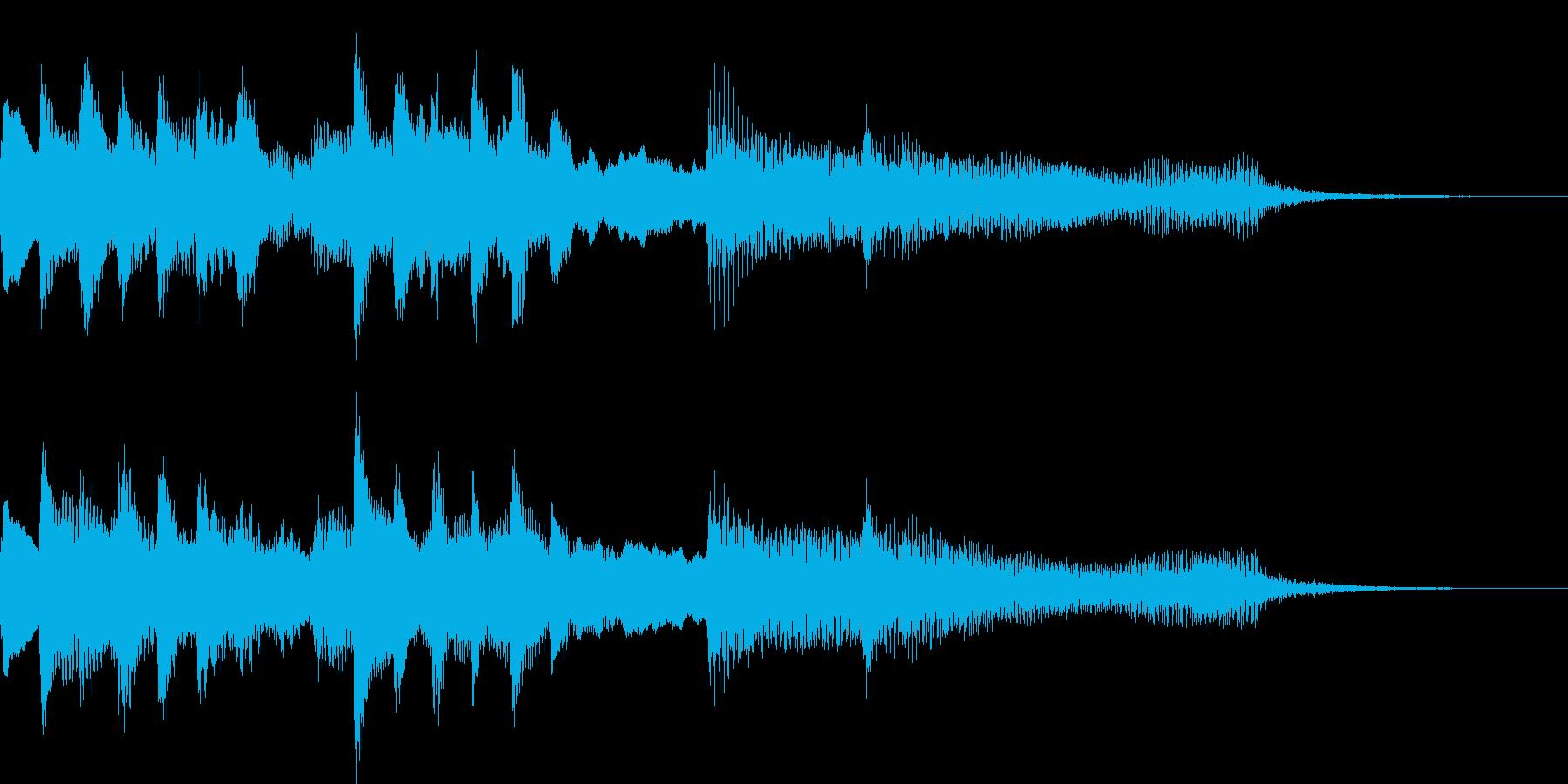 ファンタジーな世界に合わせたロゴ音の再生済みの波形