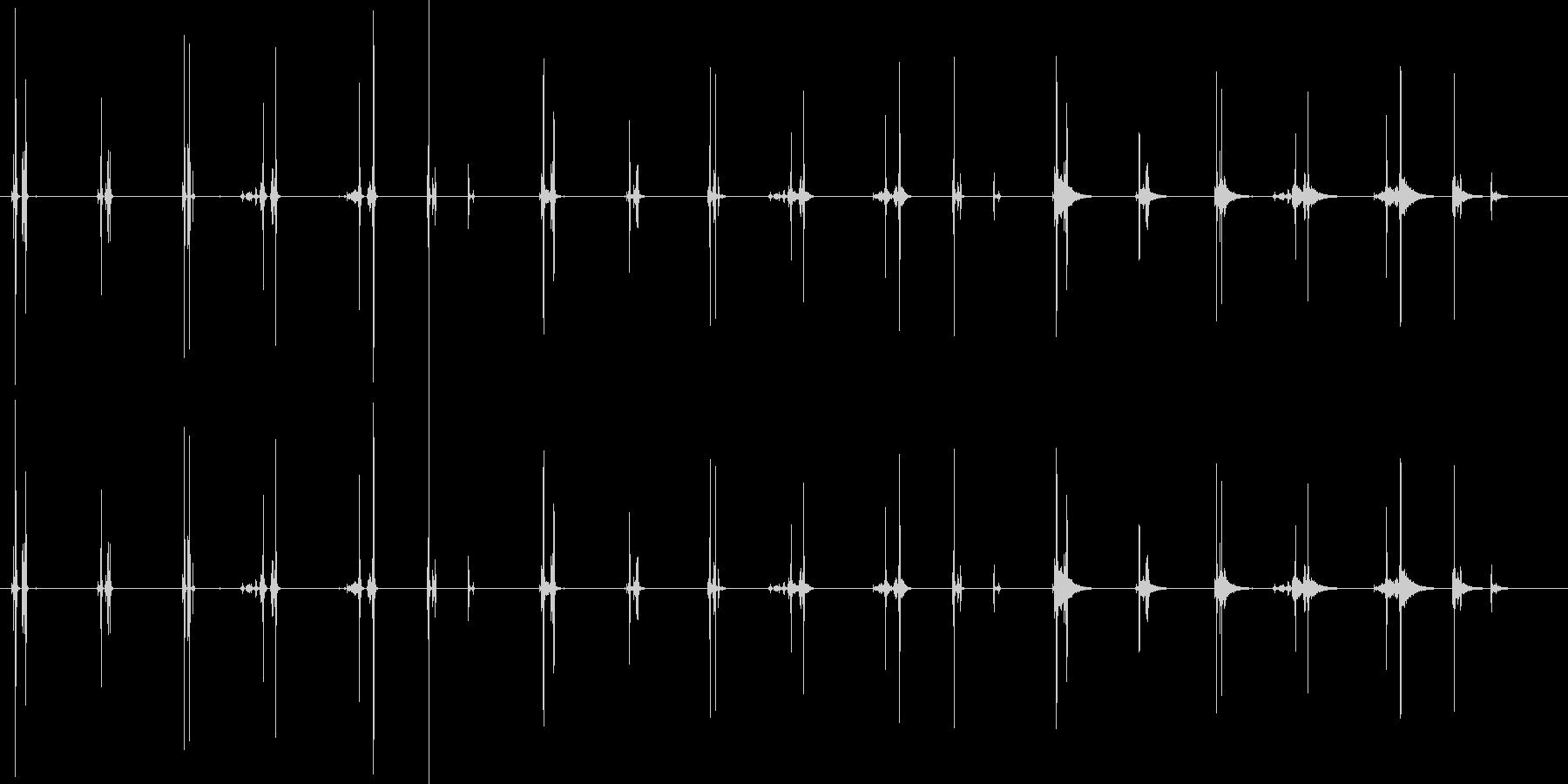 承認のスタンプ-7バージョンX 3...の未再生の波形