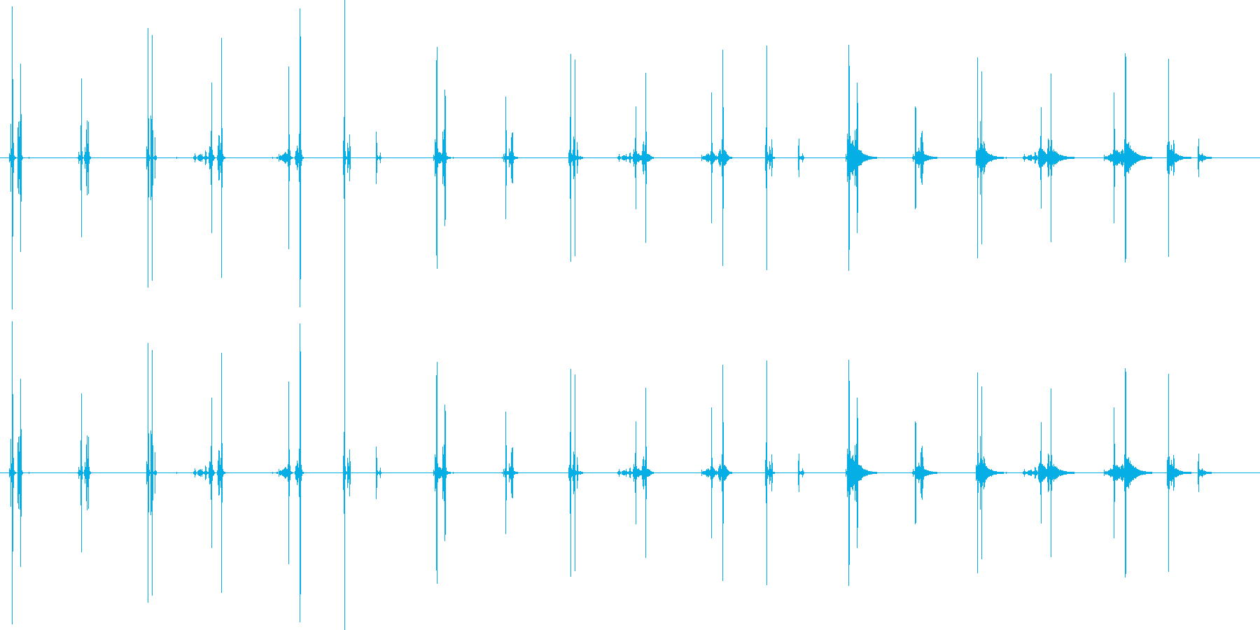 承認のスタンプ-7バージョンX 3...の再生済みの波形