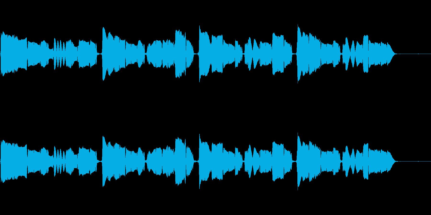 サックスの重奏です。の再生済みの波形