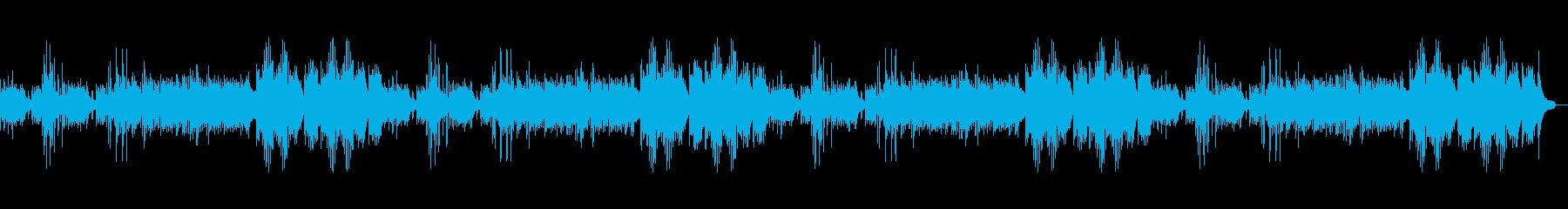 森や湖をイメージしたピアノが目立つBGMの再生済みの波形