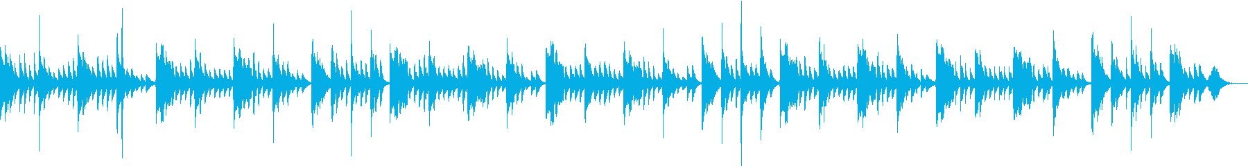 赤ちゃんの不安を取り除くやさしい音楽の再生済みの波形