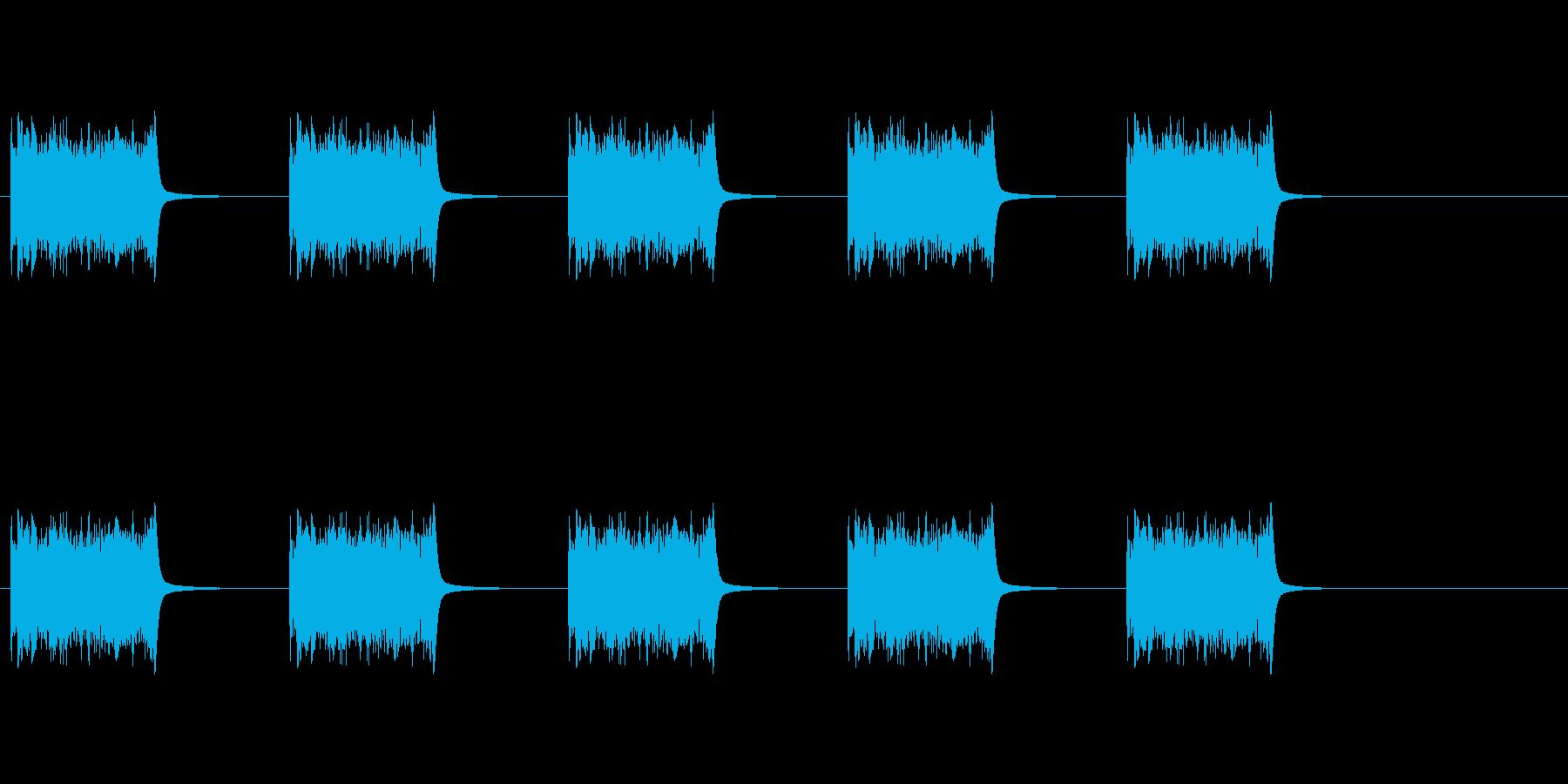 電話のリング、外国のベル型リング1。の再生済みの波形