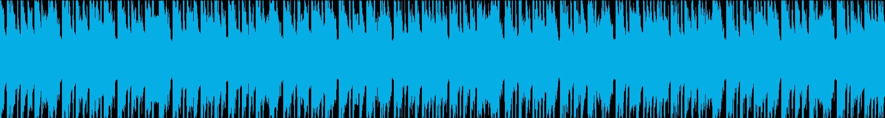 他愛もないシーンに合いそうなループ曲の再生済みの波形