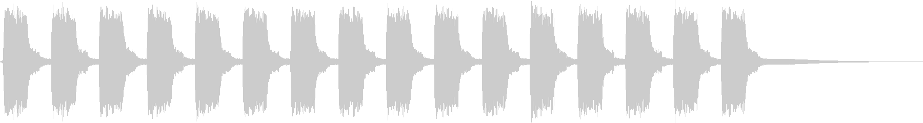 ビービー…。緊急事態の警報音D(長)の未再生の波形