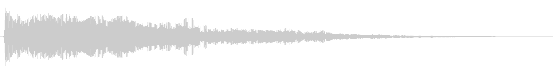 動きと振動を感じる効果音の未再生の波形