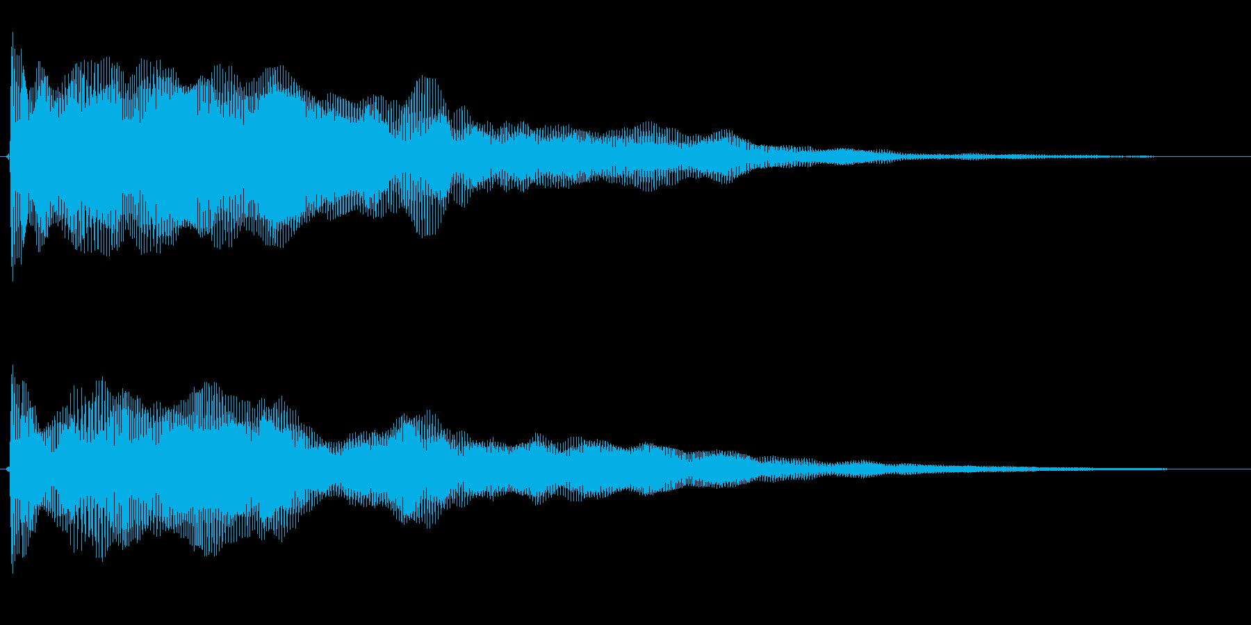 動きと振動を感じる効果音の再生済みの波形