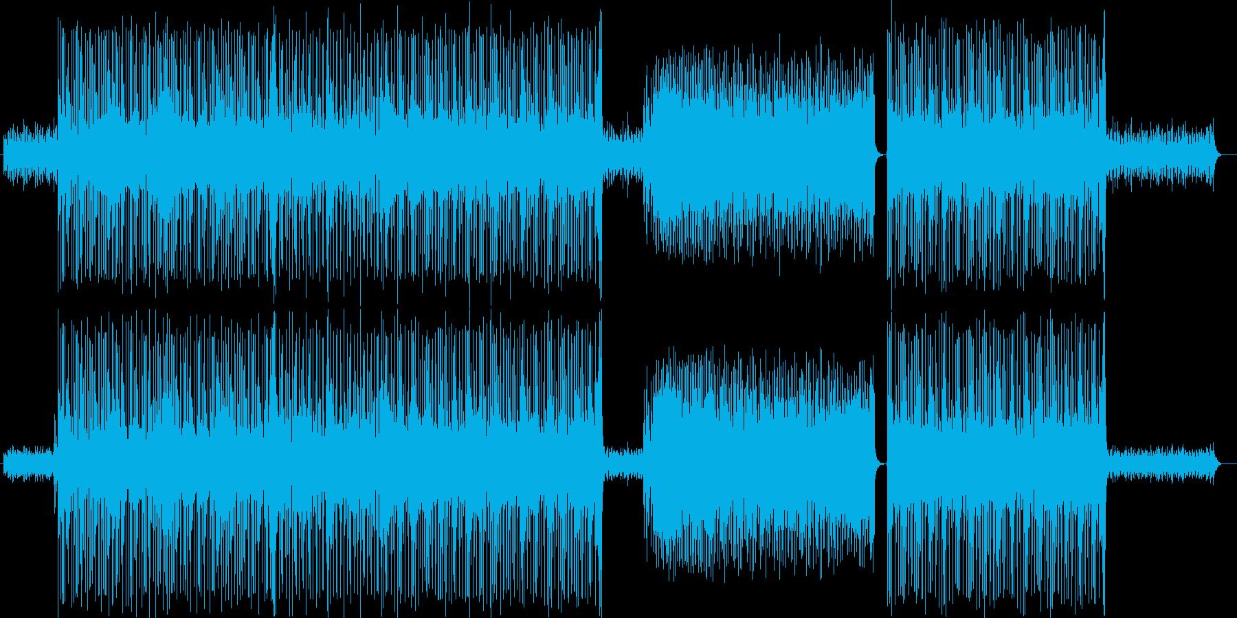 ドキドキ感のシンセサイザーサウンドの再生済みの波形
