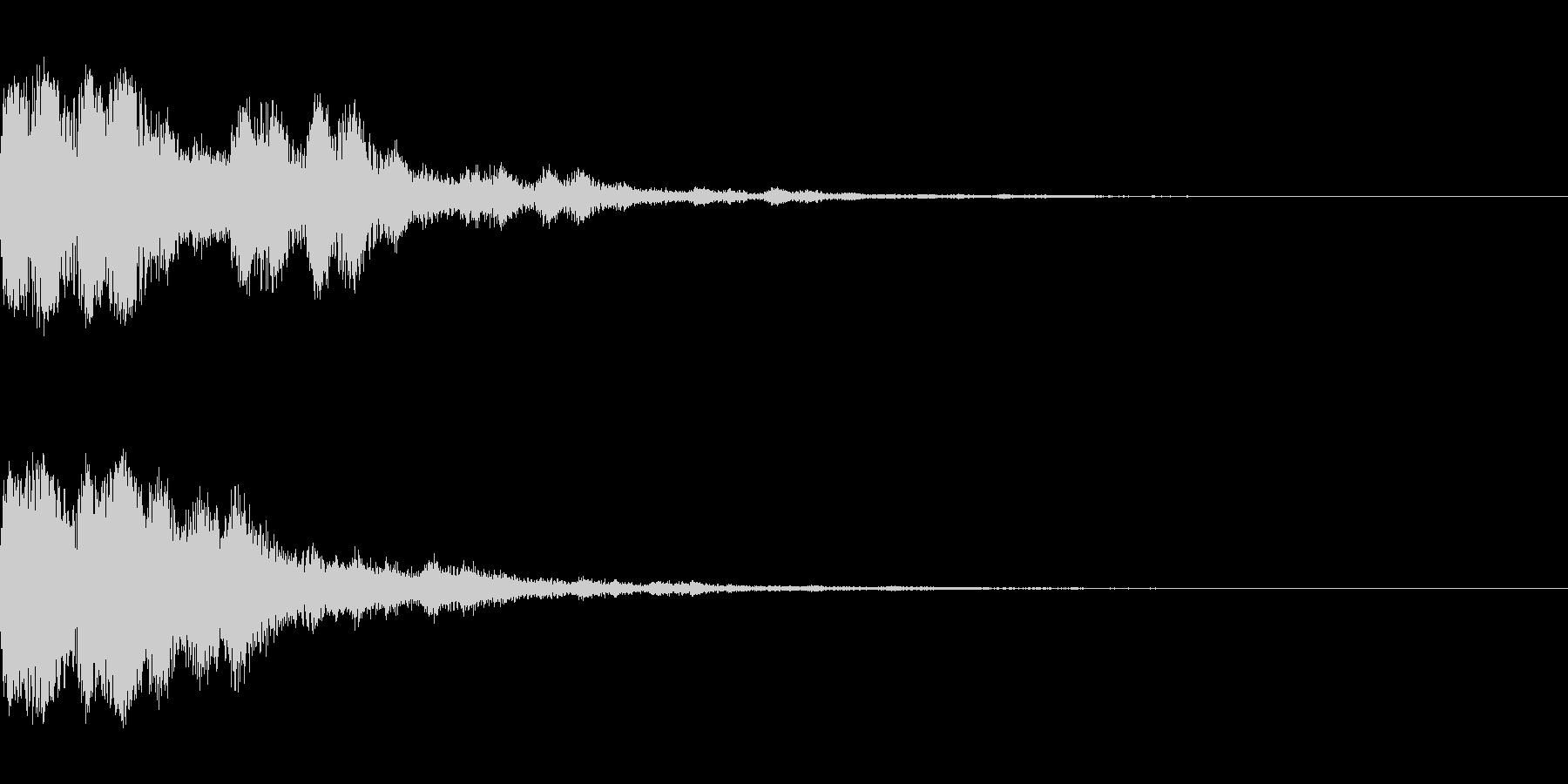 チェケーン×3(決定_02)の未再生の波形