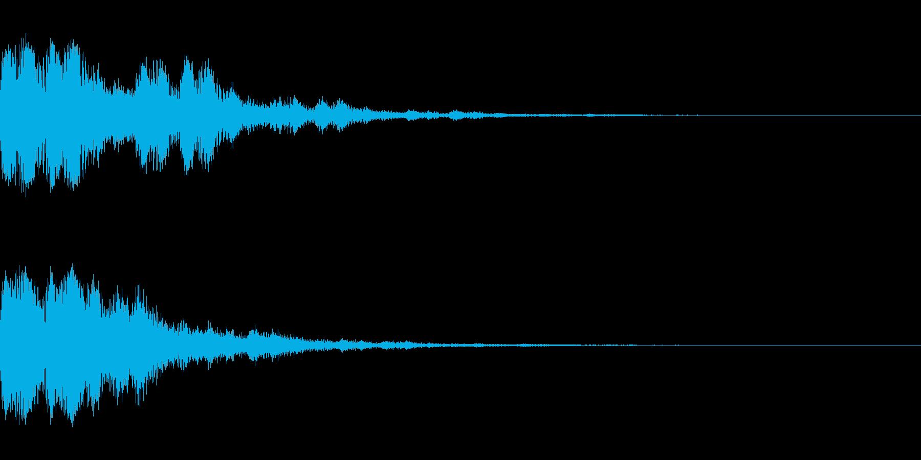 チェケーン×3(決定_02)の再生済みの波形