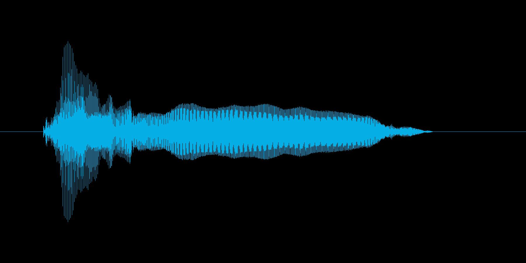 パオーーーーーンの再生済みの波形