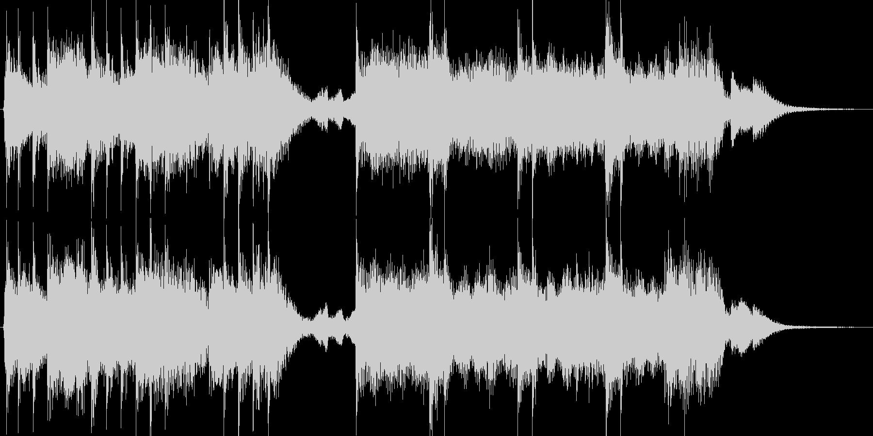 和風演歌侍オーケストラオープニングBGMの未再生の波形