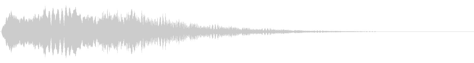 不気味な笛の未再生の波形