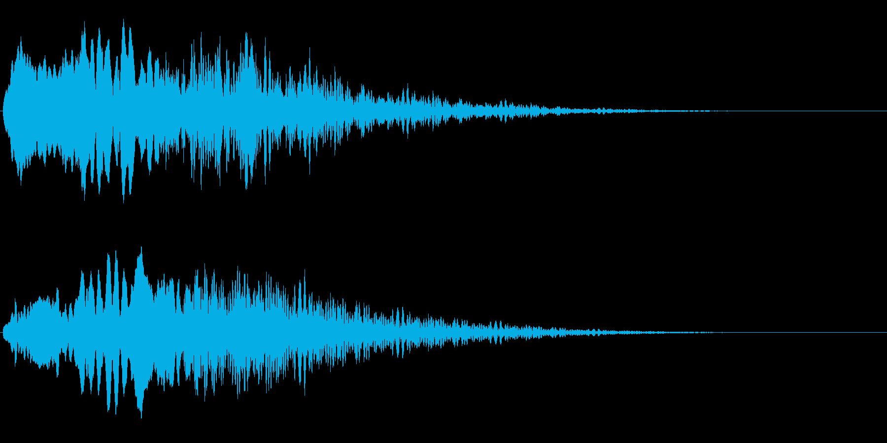 不気味な笛の再生済みの波形